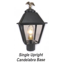 Single Upright Candelabra Base Gas Light Conversion Kit ESUK