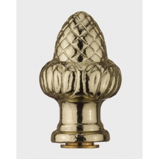 Gas Light Brass Acorn Finial F08