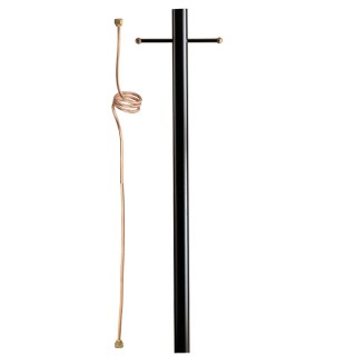 A8C Aluminum Outdoor Gas Light Post with Copper Internals 8'